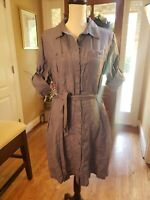 L.L.Bean Linen  Dress Button Up~Womens Sz L