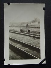 WAITING FOR A TRAIN ON THE UNION PACIFIC MAIN LINE IN NEBRASKA, Vtg 1920's PHOTO