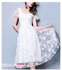 Women's White Lace Dress