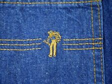 Vintage 70s Levis dark jeans high waist Usa Cowboy Denim womens 28X32 Saddleman