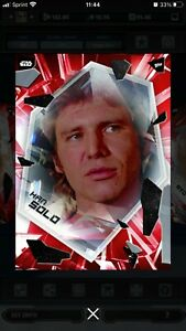 HAN SOLO - FRACTURED RED - Super Rare Digital - STAR WARS Card Trader Topps