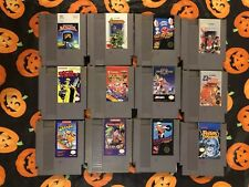 CONTRA EXCITEBIKE DOUBLE DRAGON 1+2 CASTLEVANIA DUCKTALES NINTENDO NES LOT (12)