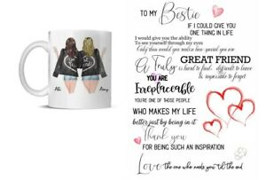 Bestie Friend Personalised New quotes Any Name Mug Christmas Gift
