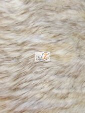FAUX FAKE FUR ANIMAL SHORT PILE COAT COSTUME FABRIC - Winter Wolf - BY YARD