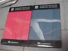Lot of 2 Kindle Fire Tablet CaseS - RED AND BLUE  Casecrown Poetic Covers NEW!