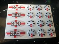 DELKIM STICKERS George Cross Oval & Dial KIT TXI PLUS EV std alarms