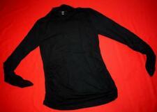 ISABELLA OLIVER BLACK MATERNITY LONG SLEEVE TOP T-SHIRT - SIZE 2 UK 10 US 6