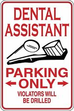 Assistante dentaire Parking Only Funny Novelty Stickers JDM Euro Lrg SM1-275