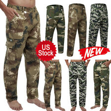 New Men Military Cargo Pant Camo Army Combat Hiking Casual Long Trouser S-4XL US