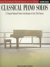 John Thompson's Classical Piano Solos Second 2nd Grade Sheet Music Book Baroque