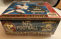 2000 Pacific Private Stock Factory Sealed Football Hobby Box TOM BRADY RC Rookie