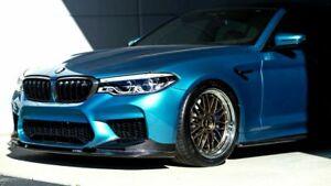 Carbon Fiber 3D Style Front Bumper Splitter Lip Spoiler For BMW M5 F90
