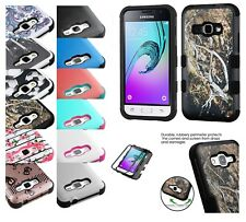 Samsung GALAXY Express 3 J1 Amp 2 Hybrid ShockProof Protective Hard Case Cover