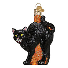 Scaredy Cat Black Cat  Halloween Ornament Old World Christmas New in Box