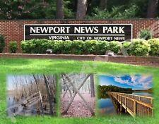 Virginia - NEWPORT NEWS PARK - Travel Souvenir Flexible Fridge Magnet