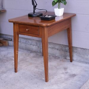Ethan Allen End Side Table Night Stand Tapered Legs with Drawer