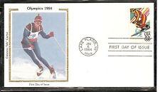 US Scott # 2068 Downhill Skiing FDC . Colorano Silk Cachet