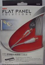 RCA (FA7SA) - Flat Panel RCA Stereo Audio Cable - 7 FT   (Red-White Cable)