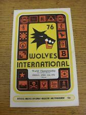 23/04/1976 Speedway Programme: At Wolverhampton - World Championship (results/wr