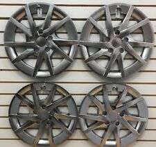 "NEW 2012-2013 Toyota PRIUS V SW Dark Gray Hubcap Wheelcover SET 16"" Hubcaps"