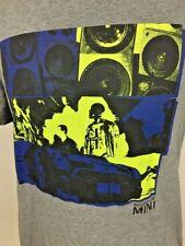 Mini Cooper Mens T-Shirt Car Sounds Of Mini Size Large Gray