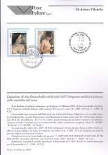 ITALIA 2000 MALATTIE DEL SENO  BOLLETTINO COMPLETO DI FRANCOBOLLI FDC
