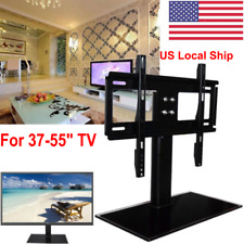 """For 37-55"""" Universal Tabletop Flat TV Stand W. Base LCD/LED Media Entertainment"""