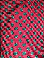 Men's Polo by Ralph Lauren Red Paisley Silk Neck Tie made in Italy
