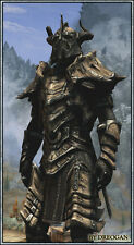DRAGON BONE SKYRIM ARMOUR  SCALA 1:1 INDOSSABILE COSPLAY (costume armatura armi)