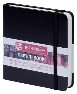Talens Art Creation Hardback Sketch Book 140gsm 12 x 12 cm Square