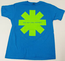 RED HOT CHILI PEPPERS T-shirt Asterisk Lime Tee Adult MEDIUM Blue New