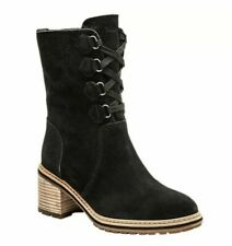 Timberland Women's Sienna High Waterproof Black Suede Mid Boots A24V6