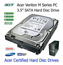 """80GB Acer Veriton M2610 3.5"""" SATA Hard Disc Drive (HDD) Upgrade / Replacement"""