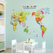 2016 Animals World Map Vinyl Art Wall Sticker Decals Kids Playroom Nursery  Decor Part 85