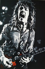 """Thin Lizzy GARY MOORE GIBSON LP nombre limité édition Art Imprimé 18"""" X 12"""""""