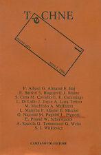 TÈCHNE. Rivista di poesia e non. Nuova serie, anno I, numero 1, 1986. Campanot