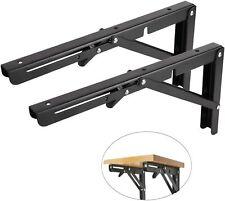 Folding Shelf Brackets Heavy Duty Wall Mounted Triangle Shelf Bracket Pack of 2