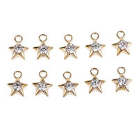 10 Pcs Alloy Connector Charms Glass Beads Pendants For DIY Jewelry Making