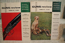 lot 2 old vtg GUNS REVIEW OCTOBER/DECEMBER 1961 HUNTING SHOOTING SCOTLAND