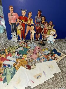 Vintage Lot of Cut Paper Dolls and Clothes Dog Dagwood