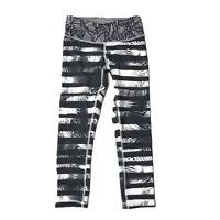 Lululemon Leggings Size 2 Wunder Under Crop Shady Palms Black White Yoga Pant