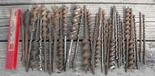 Lot of 33 Assorted Antique Auger Expansive Bits Irwin Jennings Millers Snell Etc