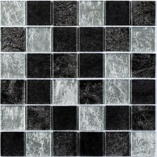 Hong Kong Silver Mix Square Glass Mosaic Tiles 4.8 X 4.8cm