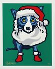 George Rodrigue BLUE DOG Ho Ho Ho 2000 Hand Signed and Numbered Serigraph