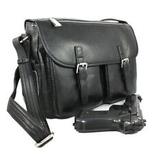 Concealed Carry Leather Locking CCW Handbag