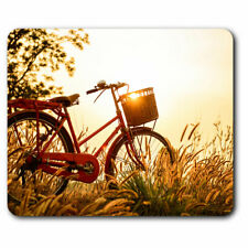 Computer Mouse Mat - Retro Bicycle Bike Sunset Office Gift #2738