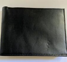 Men's Genuine Leather Bifold Wallet Black
