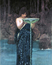 John Waterhouse Greek Goddess Circe Painting Mythology Real Canvas Art Print