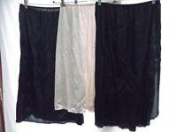 vtg Vassarette Bali XL half slip lingerie lace 100% nylon back slit beige MINT