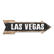 AP-0225 LAS VEGAS Arrow Street Tin Chic Sign Name Sign Home man cave Decor